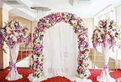 Leyiyi 10X6.5FT Wedding Ceremony Stage Backdrop Romantic Marriage Floral Arch Door Curtain Garland Background Hotel Hall Engagement Bouquet Red Carpet Bridal Shower Portrait Studio