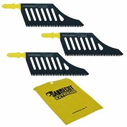 3 X Sabrecut JSSC2074_3 T Shank Hcs Wood Flush Cutting DT2074 Jigsaw Blades For Dewalt Bosch And Many Others