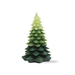 Tag Christmas Evergreen Tree Small Candle