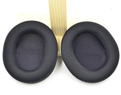Defean Replacement Black Fabric Ear Pads Cushion For Steelseries Arctis 3 5 7 Headband Headphone