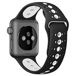 BONSTRAP Replacement Watch Band 42MM For Apple Watch Band 42MM Rubber Watch Bracelet Womens Mens
