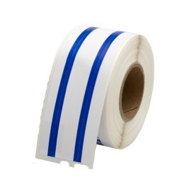 LabelValue.com File Folder Labels 30327 Blue Stripe 1 Roll Per Pack - Dymo Compatible 130 Labels Per Roll