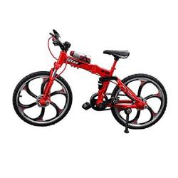 Urchins Family Alloy MINI Bicycle Toy - Finger Bike For Collections Folding Mountain Bike Red