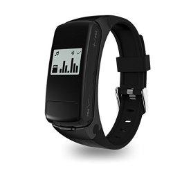 Chunnuan F50 Bluetooth Smart Watch Earphone Headset With Heart Rate Monitor Fitness Tracker Pedomete
