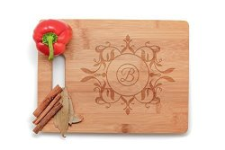 Krezy Case Personalized Kitchen Personalized Cutting Board Wedding Gift Laser Engraved Wooden Cutting Board