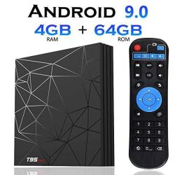 Android 9.0 Tv Box 4GB+64GBEVANPO T95 Max Quad Core Smart Tv Box Android Box Media Player Support USB 3.0 3D 4K 6K H.265 HD