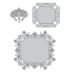 Spellbinders Shapeabilities Labels 59 Decorative Accents Etched wafer Thin Dies