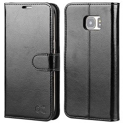 OCASE Galaxy S7 Edge Case Leather Wallet Flip Case For Samsung Galaxy S7 Edge Black