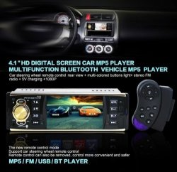 INCH 4.1 Car Stereo Radio Audio MP5 USB Sd Aux In Player With Tft Screen Bluetooth Autoradio Cam