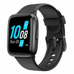 YAMAY Smart Watch 2020 Ver. Watches For Men Women Fitness Tracker Blood Pressure Monitor Blood Oxygen Meter Heart Rate Monitor IP68 Waterproof Smartwatch Compatible