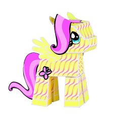 PaperPunk_Toys My Little Pony Fold Your Own Paper Fluttershy Paper Punk My Little Pony Paper Building Blocks Fluttershy