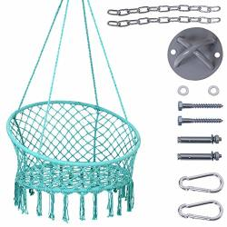 Lazy Daze Hammocks Handwoven Cotton Rope Hammock Chair Macrame Swing With  Wall ceiling Mount Set 300 Pounds Capacity 47 Width Fo | R4359 00 | Nursery