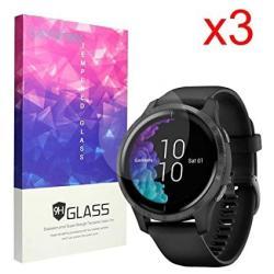 For Garmin Venu Screen Protector Blueshaw 9H Tempered Glass Screen Protector Venu Bluetooth Smartwatch 3 Pack