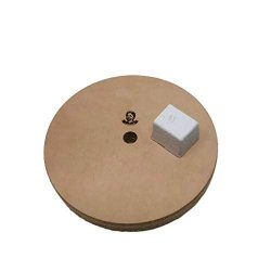 """6"""" 3 4"""" Width Leather Honing Wheel - Fits 1 2"""" Arbor - Buffing Compound Incl"""