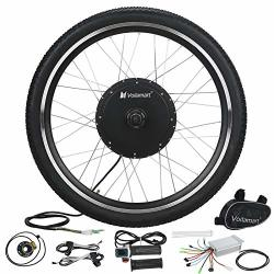Voilamart E-bike Conversion Kit 26 Front Wheel 36V 500W Electric Bicycle Conversion Motor Kit With Intelligent Controller And Pas System For Road Bike
