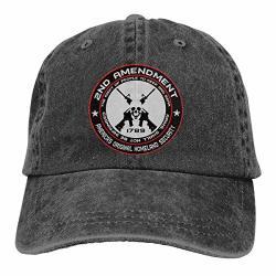 2ND Amendment - America's Original Homeland Security Round Bumper Baseball-cap Twill Adjustable Hat Black
