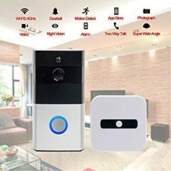 Wifi Wireless Video Doorbell Built-in 8G 720P HD Smart Doorbell With Video Doorbell Monitor With Chime Infrared Night Vision Pir
