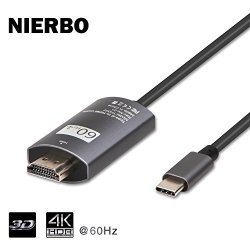 NIERBO USB C To HDMI 4K@60HZ USB Type C To HDMI Cable 6FT Thunderbolt 3 Compatible Macbook Projector Tv Huawei Mate 10 PRO Sumsu