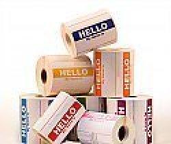Labels And More Inc. 100 Labels 3-1 2 X 2-3 8 Ciao Il Mio Nome E Yellow Italian Name Tag Identification Stickers