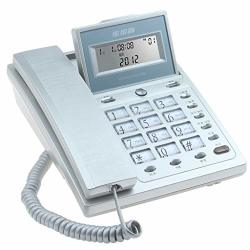 Hjl Small Clamshell Large Capacity Storage Without Radiation Environmental Health Caller Id Home Office School Fixed Landline Blue Silver Silver