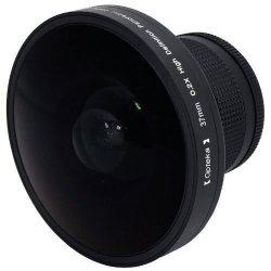 Opteka Platinum Series 0.2X HD Panoramic Vortex 220DEG Fisheye Lens For Panasonic HDC-SD10 HDC-TM10 HDC-TM15 NV-GS27 VDR-D100 VD