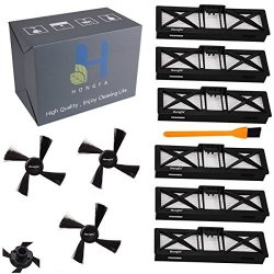 6 Neato High-Performance Filters+3 Brushes Honfa Neato Botvac Connected D5 Filters and Neato Replacement Side Brushes for Neato D7 D85 D80 70E 75 80 85