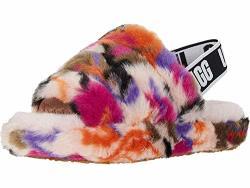 Ugg Girls' Fluff Yeah Slide Motlee Flat Sandal Multi 1 M Us Little Kid