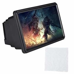 Diyeeni Phone Screen Magnifier With Phone Holder 12IN Portable Mobile Phone Screen Magnifier With 3TIMES Foldable HD Screen Amplifier Suitable For Indoors Camping Travelling