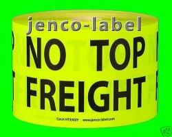 Jenco-label HT3502Y 500 3X5 No Top Freight Label sticker