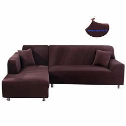 Mingfuxin L Shape Sofa Cover Stretch Elastic Fabric Sofa Sectional Corner Couch Covers Home D Cor For Living Room Coffee