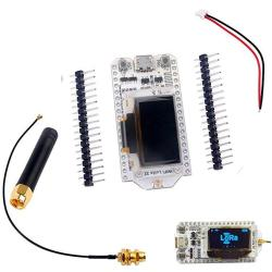 SX1276 Lora Transceiver Module 868MHZ 915MHZ Iot 0 96INCH Oled Display  ESP32 Wifi Bluetooth Development Board + Antenna + Jst Battery Connector  For