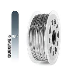 Gizmo Dorks 3MM 2.85MM Pla Filament 1KG 2.2LB For 3D Printers Color Change Gray To White