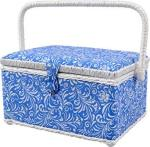 Singer 07228 Sewing Basket With Sewing Kit Needles Thread Pins Scissors And Notions Deliah Scroll