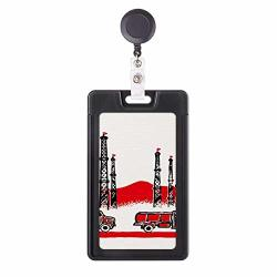 Car Mountain Tower Chinese Revolution Retractable Badge Reel Card Sleeve Case
