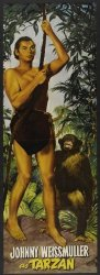 Pop Culture Graphics Tarzan And The Huntress Movie Poster 14 X 36 Inches - 36CM X 92CM 1947 Insert Style C - Johnny Weissmuller