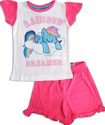 MPL Music Performance Laboratory Mlp Official Licensed My Little Pony Girls Pajamas Pink 7 Years