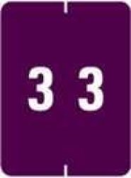 Ifc Numeric Label - CL2200 Series Rolls - 3 - Purple
