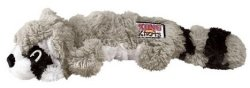 Kong Scrunch Knots Raccoon Dog Toy Medium large