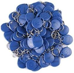 100PCS 125KHZ Whole New Rfid Proximity Id Card Token Tags Key Keyfobs Blue