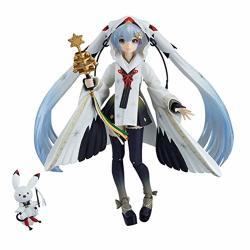 Bowinr Snow Miku Figma Action Figure Crane Priestess Version Premium Collectible Kawaii Vocaloid Hatsune Miku Pvc Figure