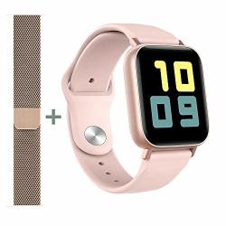 Amatage Smart Watch For Android Phones Iphone For Men Women Fitness Tracker Watch With Heart Rate And Sleep Monitor Waterproof Activity Tracker Pink extra Band