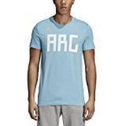 SLD Of The Adidas Group Adidas World Cup Soccer Argentina Men's Argentina Tee Large Blue
