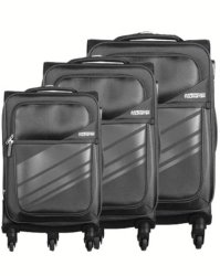 American Tourister Stirling 3 Piece Set Dark Grey