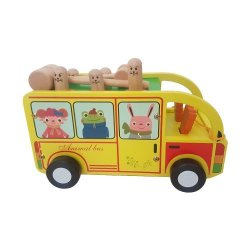 Wooden Pound-a-peg Bus