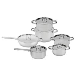 Zellini 12PC Stainless Steel Cooware Set