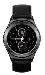 Samsung Gear S2 Classic 40MM Wi-fi Stainless-steel Smartwatch Leather Strap - Black