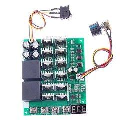SODIAL Dc Motor Speed Governor 12V 24V 36V 48V 10-55V 60A Forward Reverse Switch