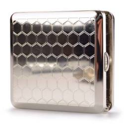 Chrome Cigarette Case - Honeycomb