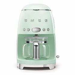 Smeg 50'S Retro Style Aesthetic Drip Filter Coffee Machine 10 Cups Pastel Green