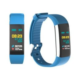Bakeey K6 USB Charging 0.96INCH Ips Color Heart Rate Blood Pressure Monitor Weather